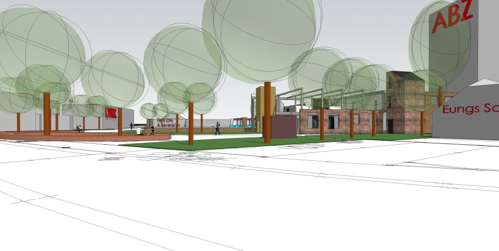 Plan Mooi Markelo Atelier 007 vanaf terras Wapen van Markelo